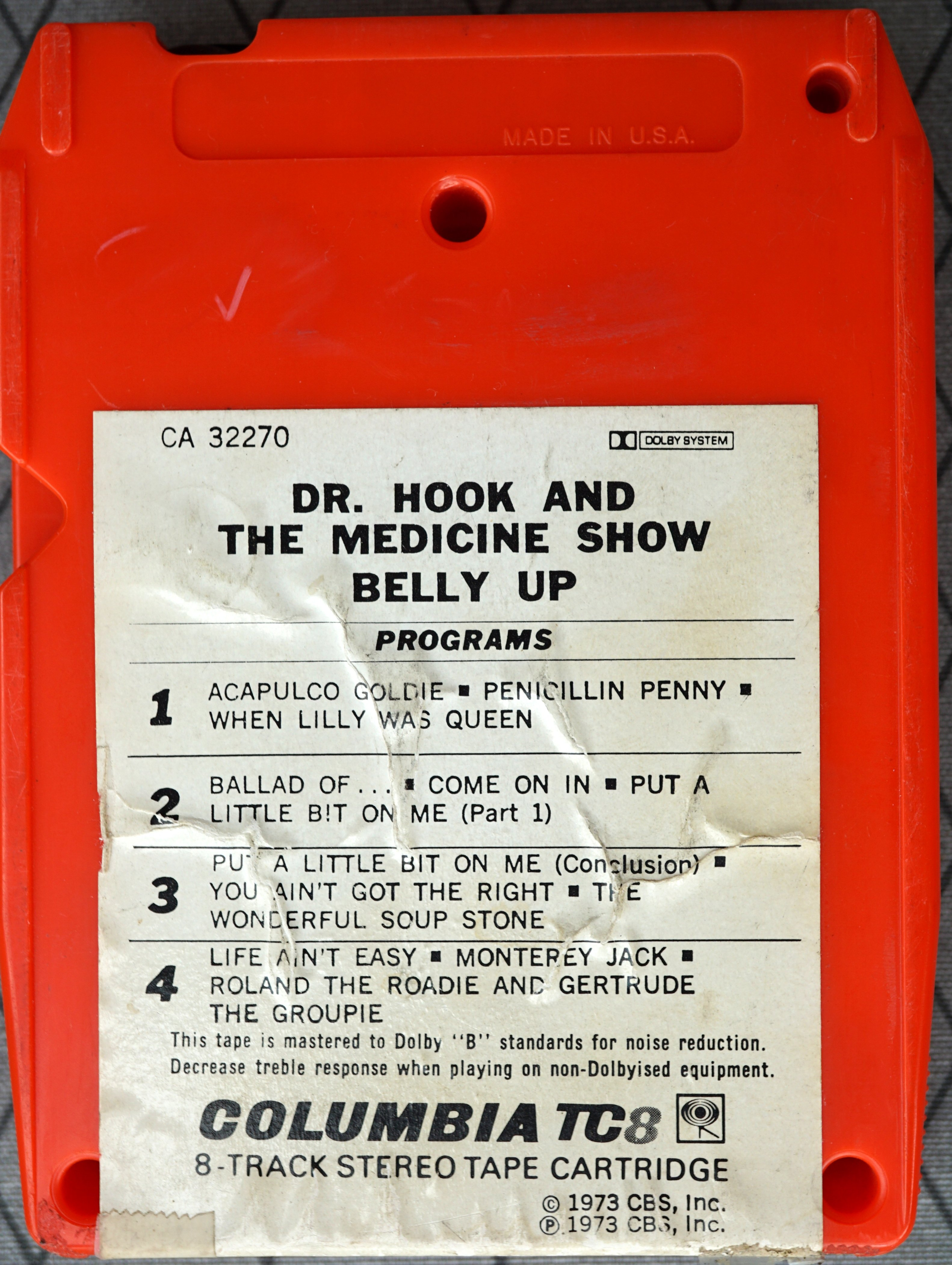 8 track - Belly Up - US 1973 - 2