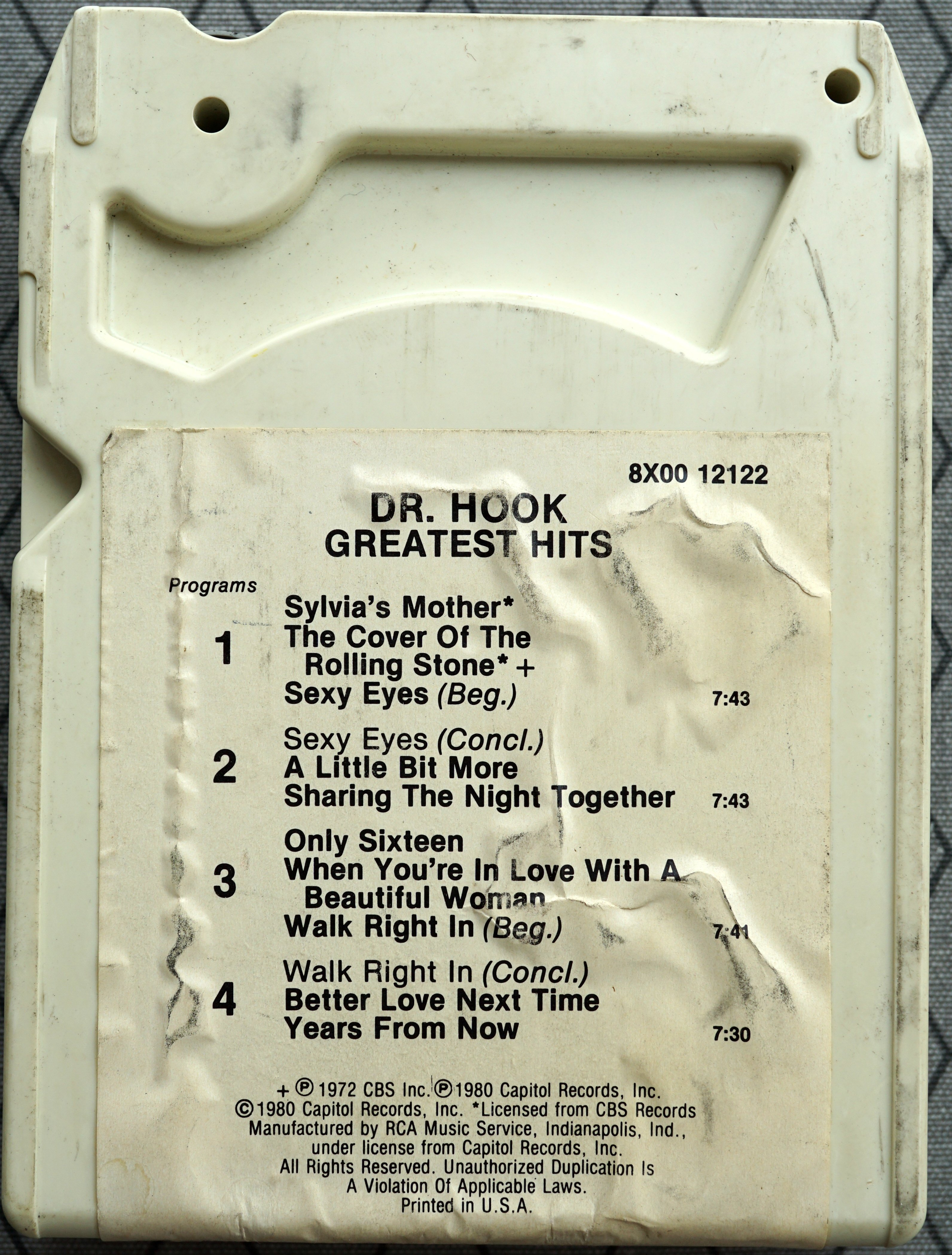 8 track - Greatest Hits - US 19-- 2