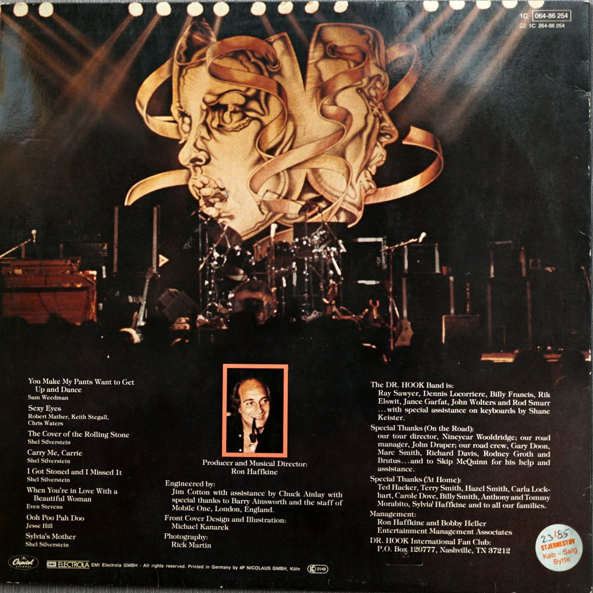 LP - 1C 064-86 254 - Dr Hook Live in the UK - Germany - 1981 - 2