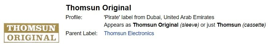P - Label - THOMSUN