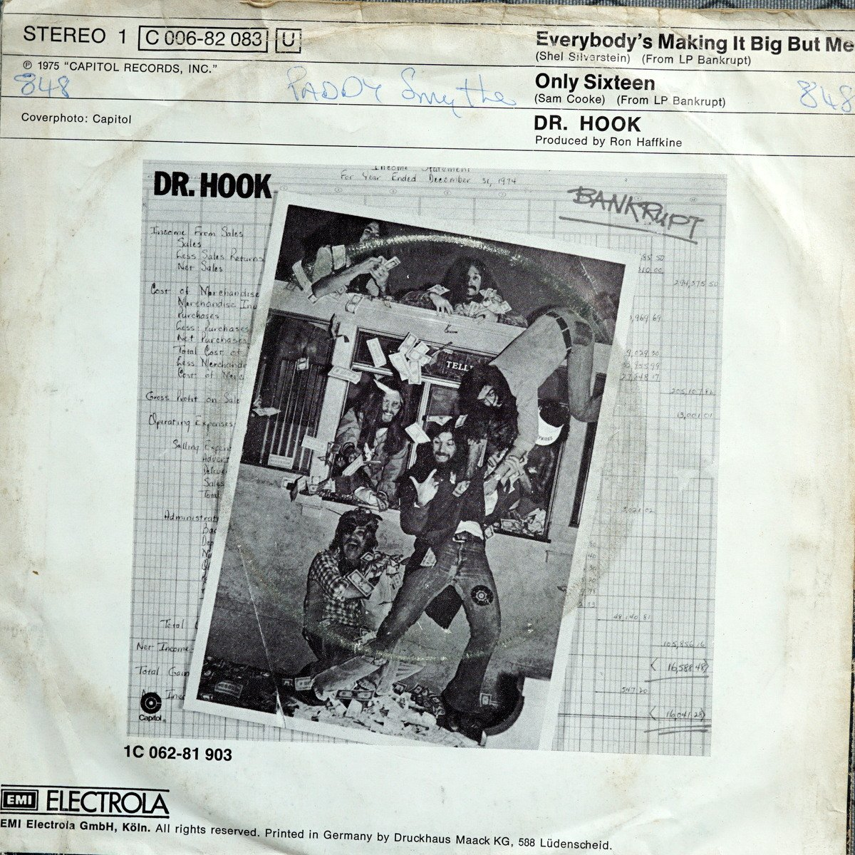 S BR B2 - 1C 006-882083 - Everybodys Making it Big But Me - 1975 - DE