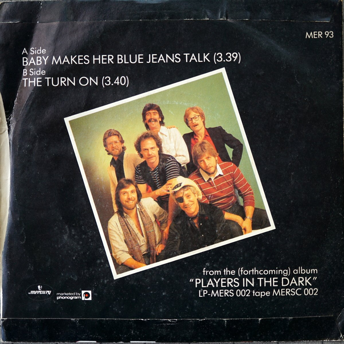 S PD A1 - MER 93 - Baby Let Her Blue Jeans Talk - 1982 - UK - 2